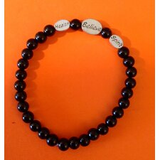 <strong>All Pro Exercise Products</strong> Sports Glass and Pewter Beaded Bracelet