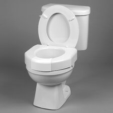 Basic Closed Front Elevated Raised Toilet Seat
