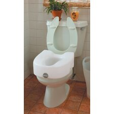 Bath Safe Lock-On Elevated Toilet Seat