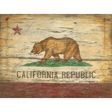 Red Horse California Flag Vintage Advertisement Plaque
