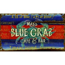 Blue Crab Vintage Sign