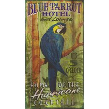 Blue Parrot Vintage Advertisement Plaque