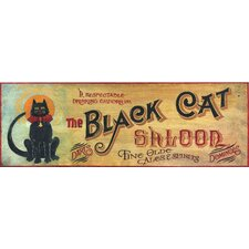 Black Cat Vintage Advertisement Plaque