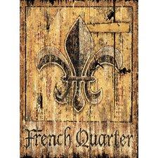 French Quarter Vintage Advertisement Plaque