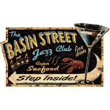Jazz Club Vintage Advertisement Plaque