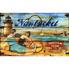 Nantucket Vintage Advertisement Plaque