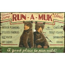<strong>Vintage Signs</strong> Run A Muk Vintage Advertisement Plaque