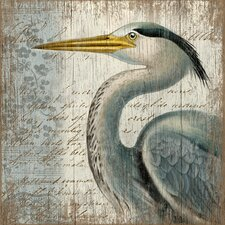Blue Heron by Suzanne Nicoll Graphic Art Plaque