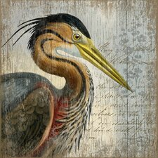 Heron by Suzanne Nicoll Graphic Art Plaque