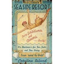 Seaside Resort Vintage Advertisement Plaque