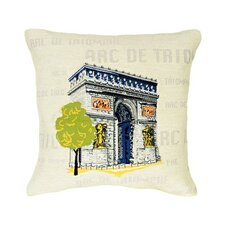 Arc de Triomphe Pop Tapestry Cotton Twill Pillow
