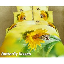 <strong>Dolce Mela</strong> Butterfly Kisses Duvet Cover Set
