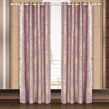 <strong>Dolce Mela</strong> Dolce Mela Pandora Cotton Grommet Drape Curtain Single Panel