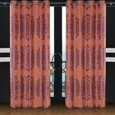 <strong>Dolce Mela</strong> Dolce Mela Areon Cotton Grommet Drape Curtain Single Panel