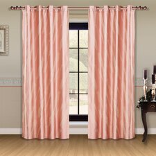 Dolce Mela Capri Cotton Grommet Drape Curtain Panel (Set of 2)