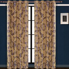 Dolce Mela Venus Cotton Grommet Drape Curtain Single Panel
