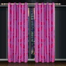 Dolce Mela Cliodna Cotton Grommet Drapes Curtain Single Panel