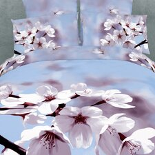 <strong>Dolce Mela</strong> Fiori di Mandorla 6 Piece Full/Queen Duvet Cover Set