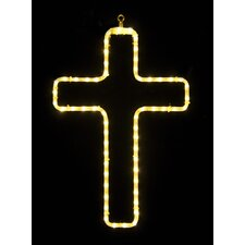 Small Cross in LED Rope Lights