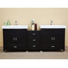 """Ramsey 81"""" Double Bathroom Vanity Set"""