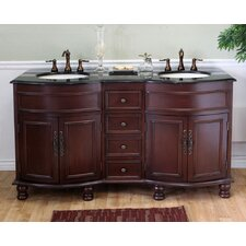 "<strong>Bellaterra Home</strong> Barrington 62"" Double Vanity Set"