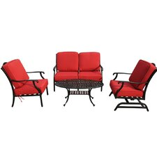Bordeaux 4 Piece Conversation Set