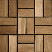 SAMPLE - Teak Interlocking Mosaic Deck Tiles