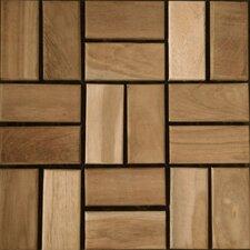 """Teak 12"""" x 12"""" Interlocking Mosaic Deck Tiles"""