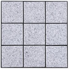 "Granite 11.75"" x 11.75"" Interlocking Deck Tiles in Bright Gray"