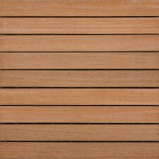"Hardwood 16"" x 16"" Interlocking Deck Tiles"