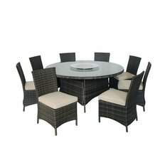 9 Piece Round Dining Set