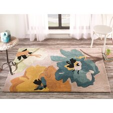 Infinite Seasons Teal / Ochre Tufted Rug