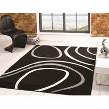 Sincerity Modern Black Rug