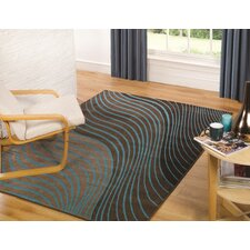 Sincerity Modern Beige / Blue Rug