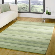 Henden Boulevard Green Contemporary Rug