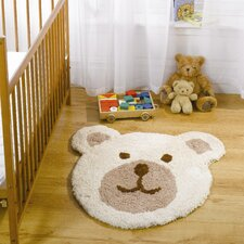 Nursery Teddy Bear Natural Novelty Children's Rug