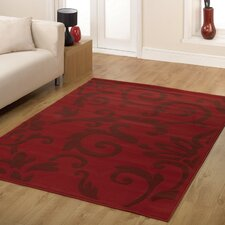 Retro Classics Red Contemporary Rug