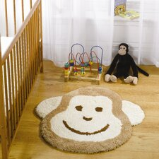 Nursery Cheeky Monkey Natural Novelty Children's Rug