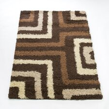 Nordic Tides Brown Shag Contemporary Rug