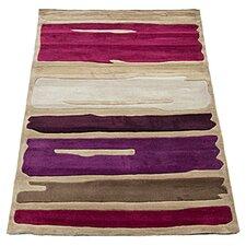 Infinite Mod Art Teal / Purple Tufted Rug