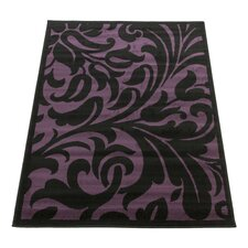 Element Warwick Black / Purple Contemporary Rug
