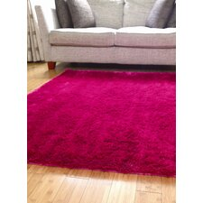 Splendour Shadow Bright Pink Shag Rug