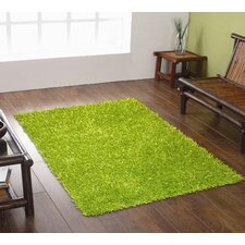 Spider Lime Green Shag Rug