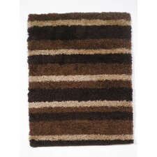 Nordic Chocolate Channel Shag Rug