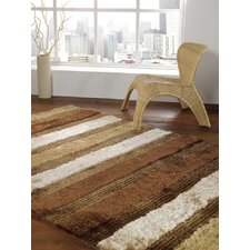 Splendour Deluxe Beige/Brown Aspire Shag Rug