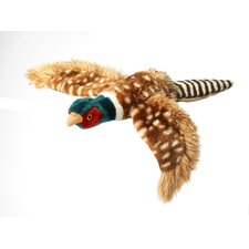 Large Plush Pheasant Dog Toy in Brown ( 1 Piece Pack)
