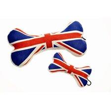 Union Jack Bone Dog Toy