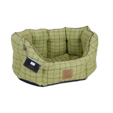 Tweed Oval Dog Bed in Green