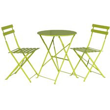 Padstow 3 Piece Round Dining Set