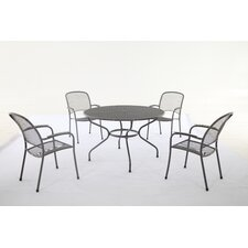 Carlo 5 Piece Round Dining Set